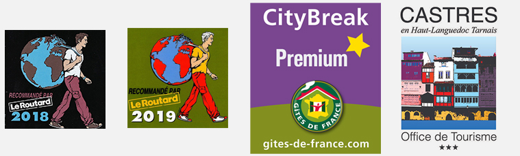 Guide du routard, city break premium gites de france, office de tourisme castres