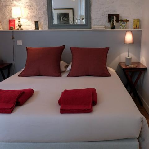 "The room ""Pierres"" in Préau Saint-Jacques, guest house in Castres"